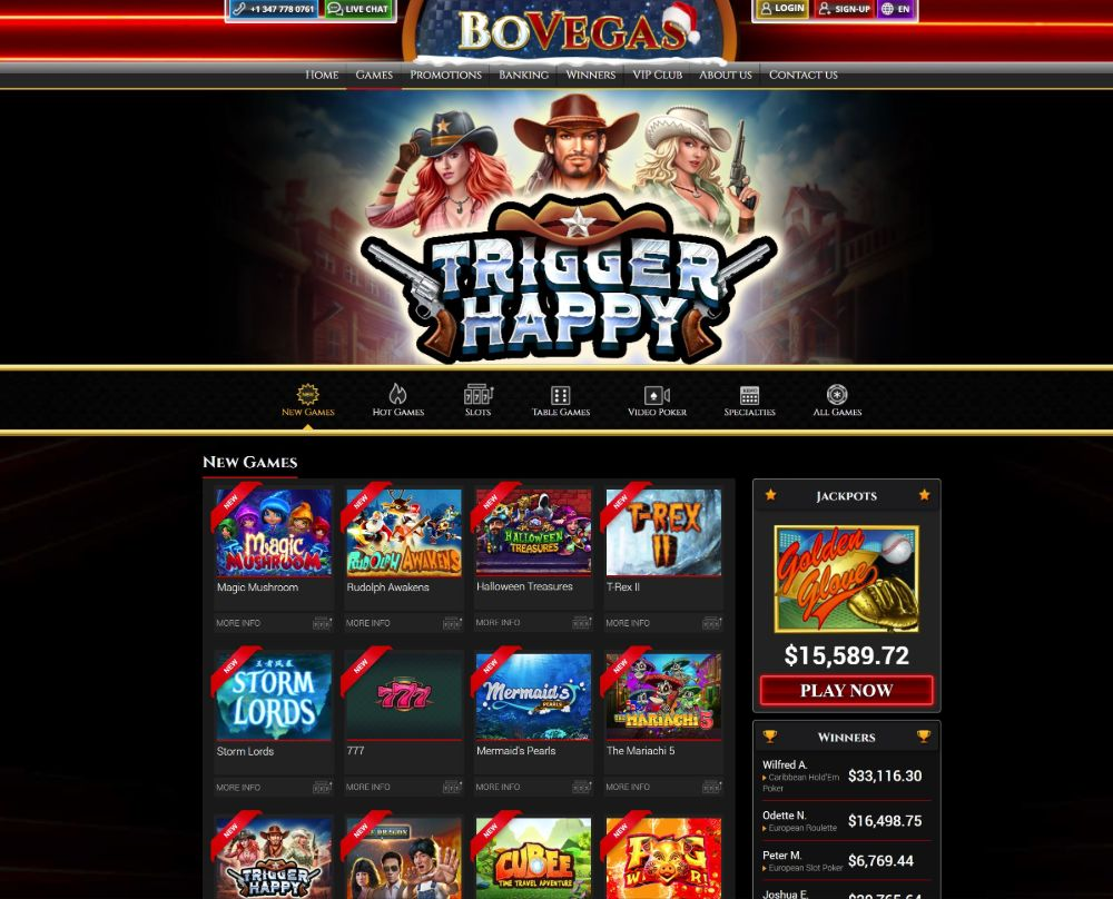 bovegas casino games