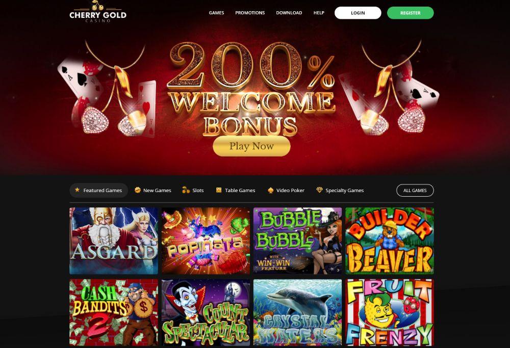 cherry gold casino home