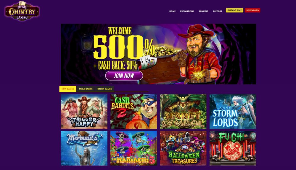 high country casino home page