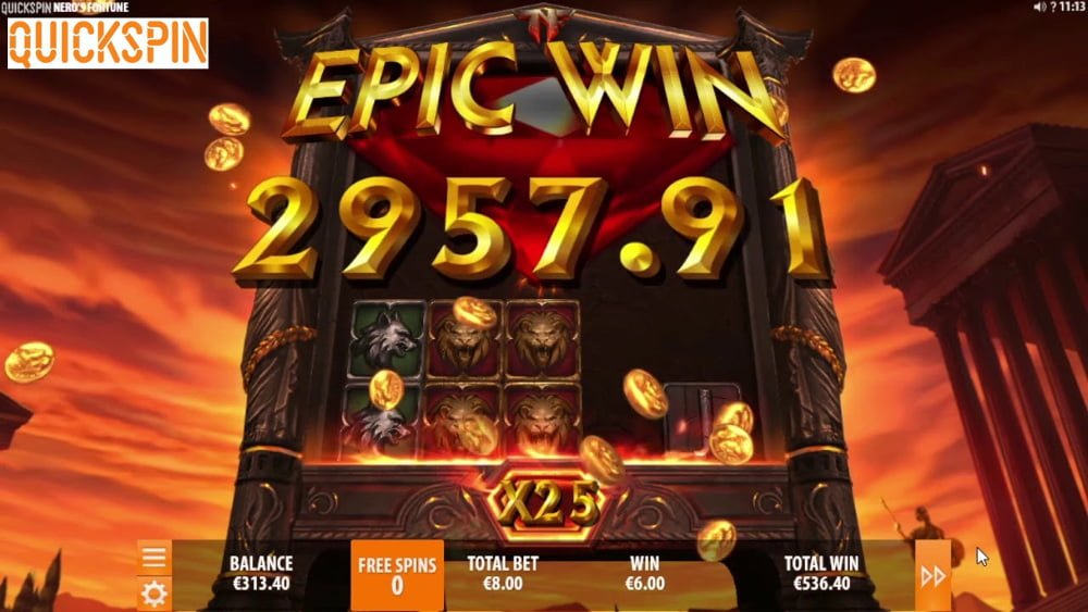 neros fortune slot by quickspin