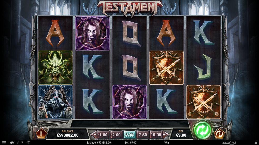 testament slot by play n go