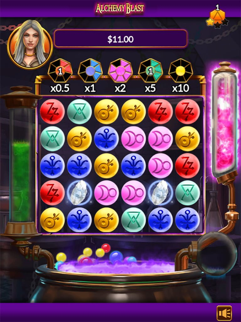 alchemy blast slot by microgaming