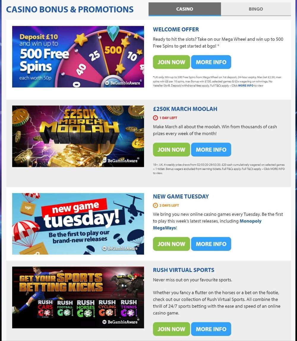 Bgo Casino Review Free Spins Bonus