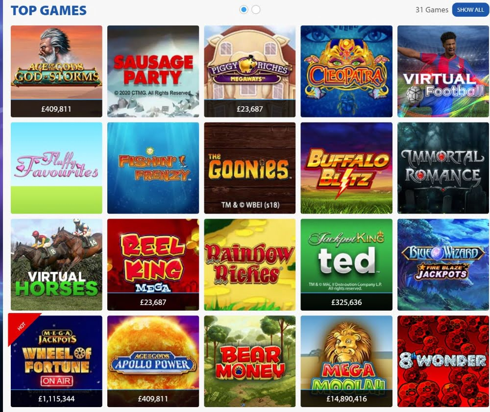 casino slot games at BGO