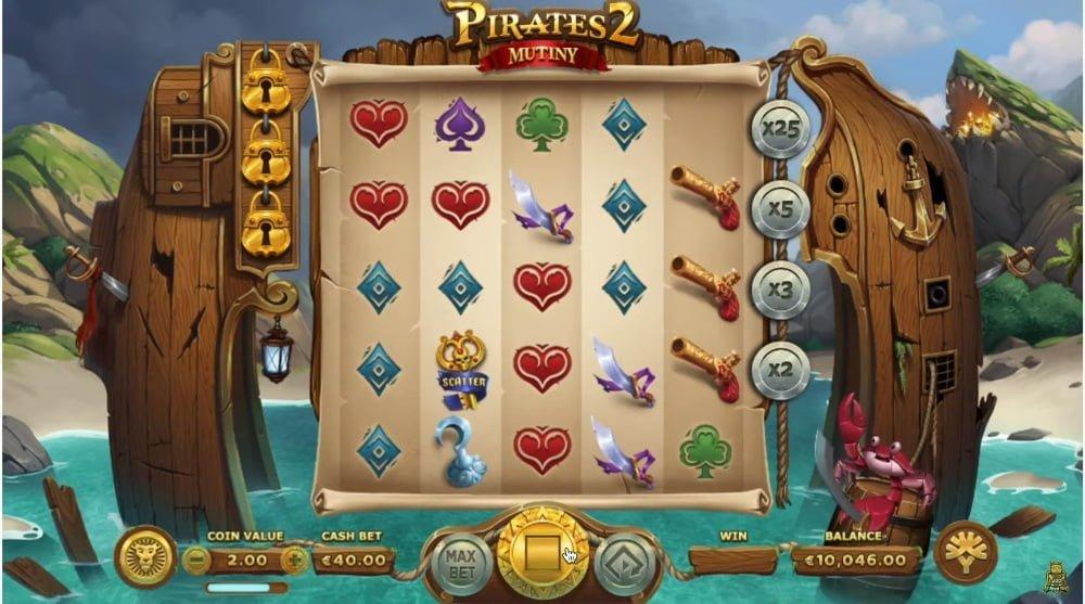 pirates 2 mutiny slot by yggdrasil