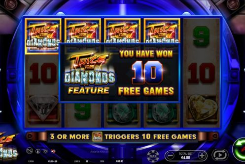 twice the diamonds slot by ainsworth