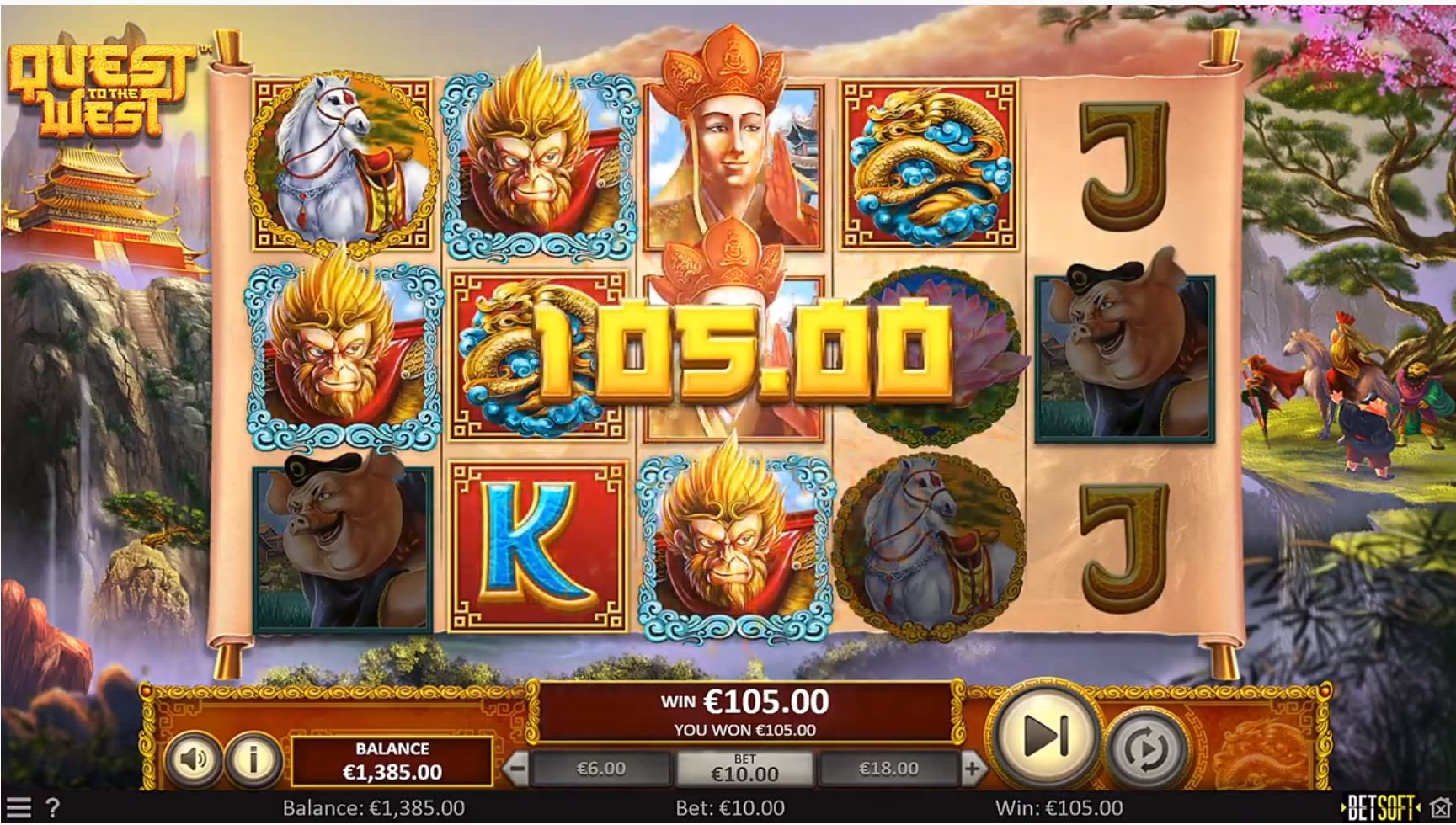 quest to the west slot by betsoft