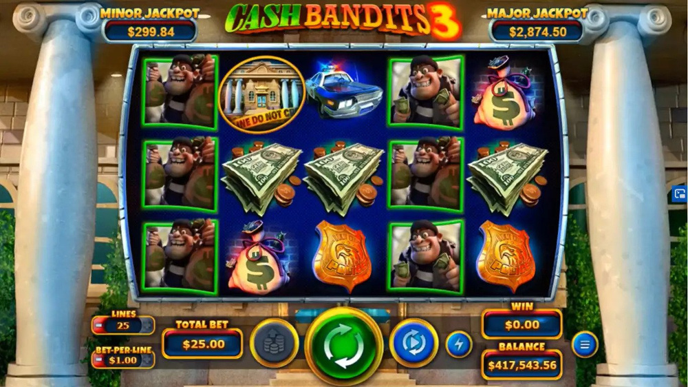 cash bandits 3 slot by RTG