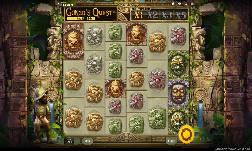 gonzos quest megaways slot by netent