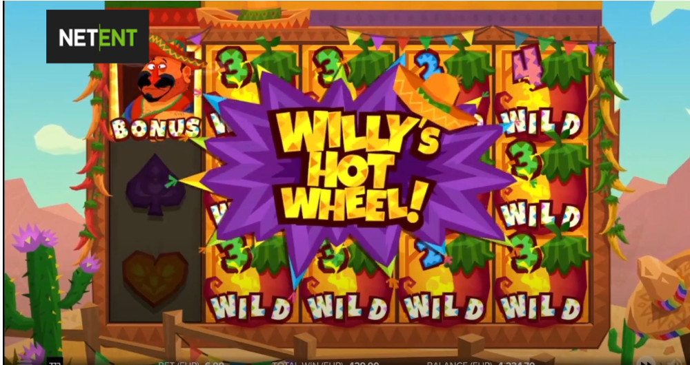 willys hot chillies slot by netent