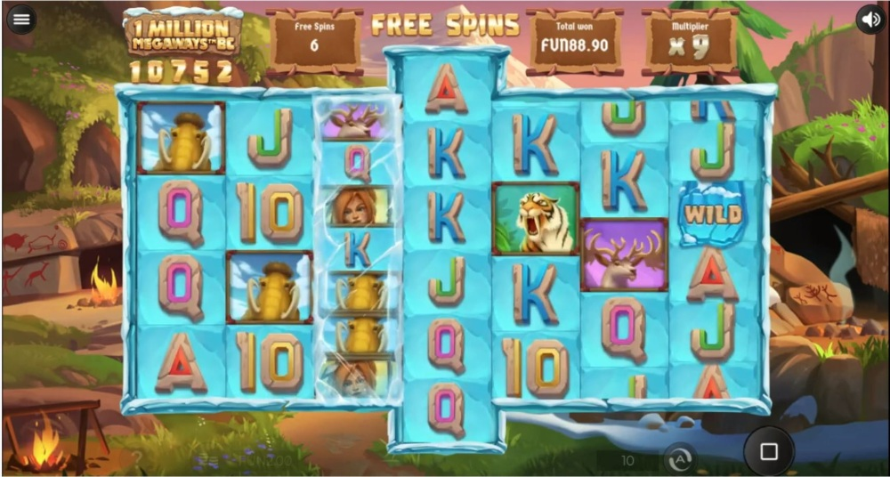 1 million megaways bc mammoth reels slot by iron dog