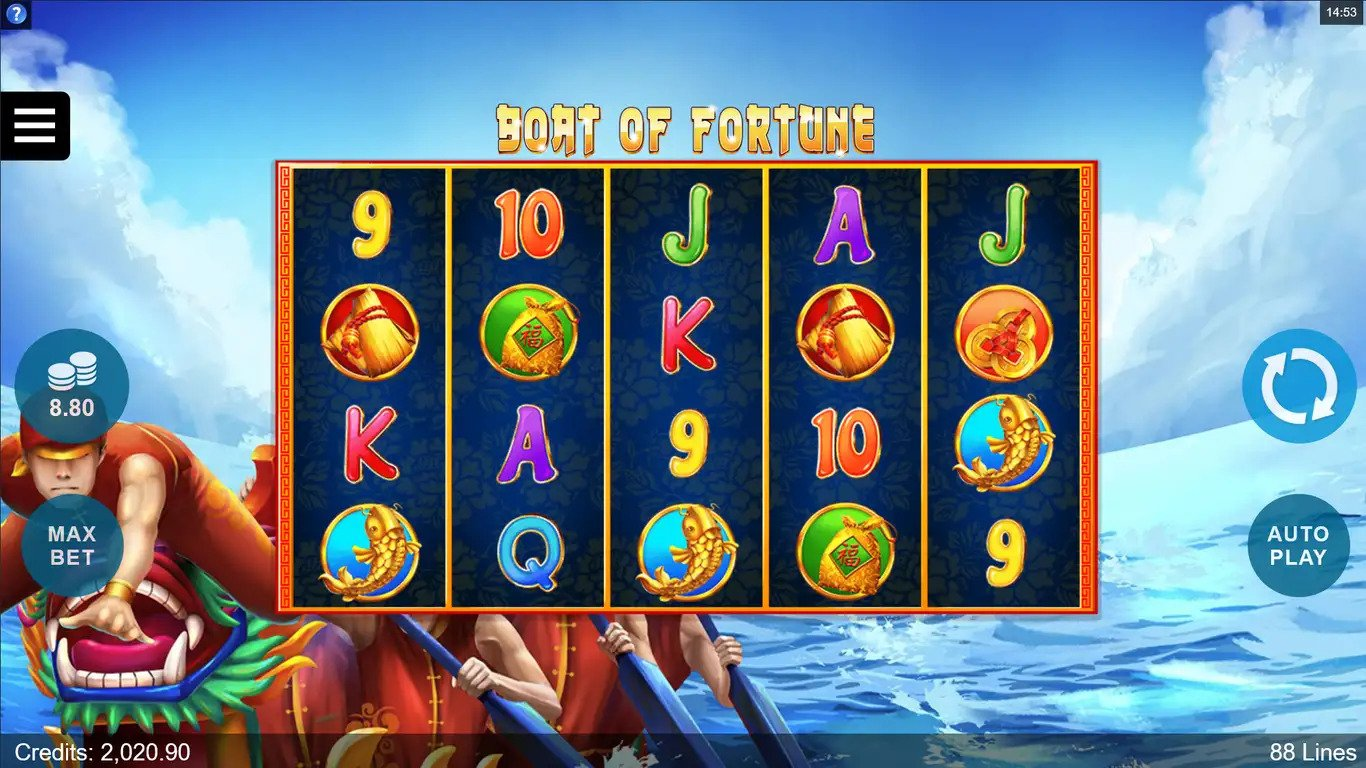boat of fortune slot by microgaming