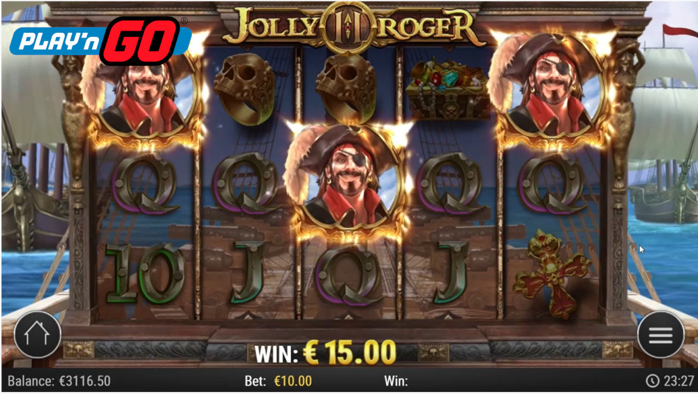 jolly roger 2 slot 2 by play n go
