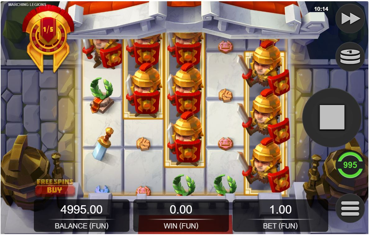 marching legions slot by relax gaming
