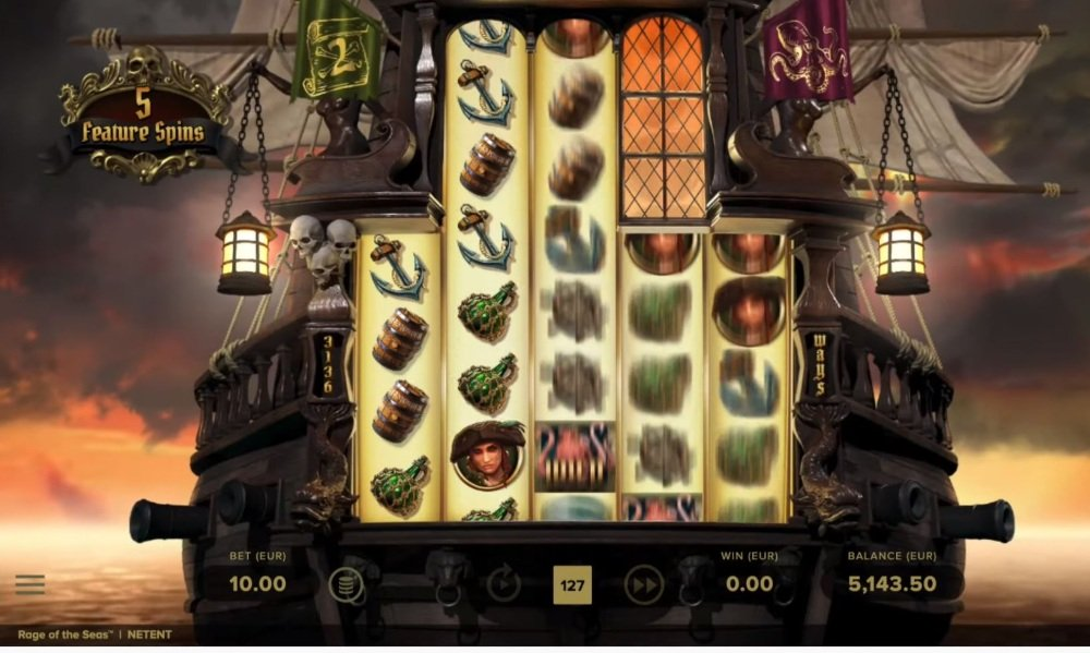 rage of the seas slot by netent