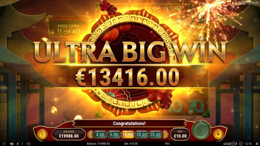 celebration of wealth slot by play n go