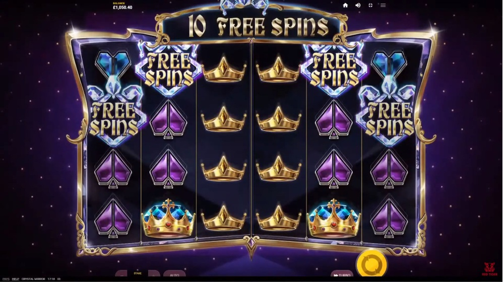 crystal mirror slot by red tiger gaming
