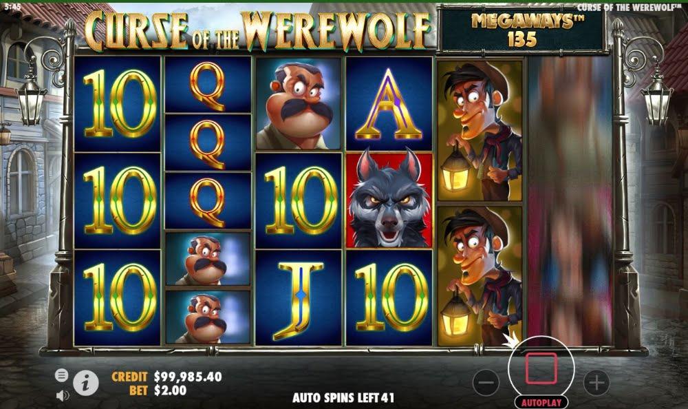 curse of the werewolf megaways slot by pragmatic play