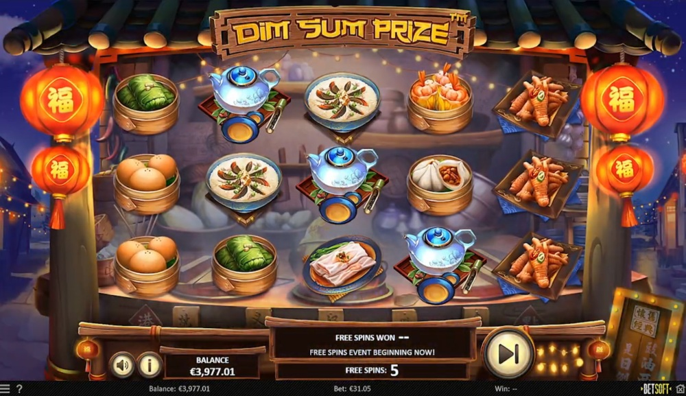dim sum prize slot by betsoft
