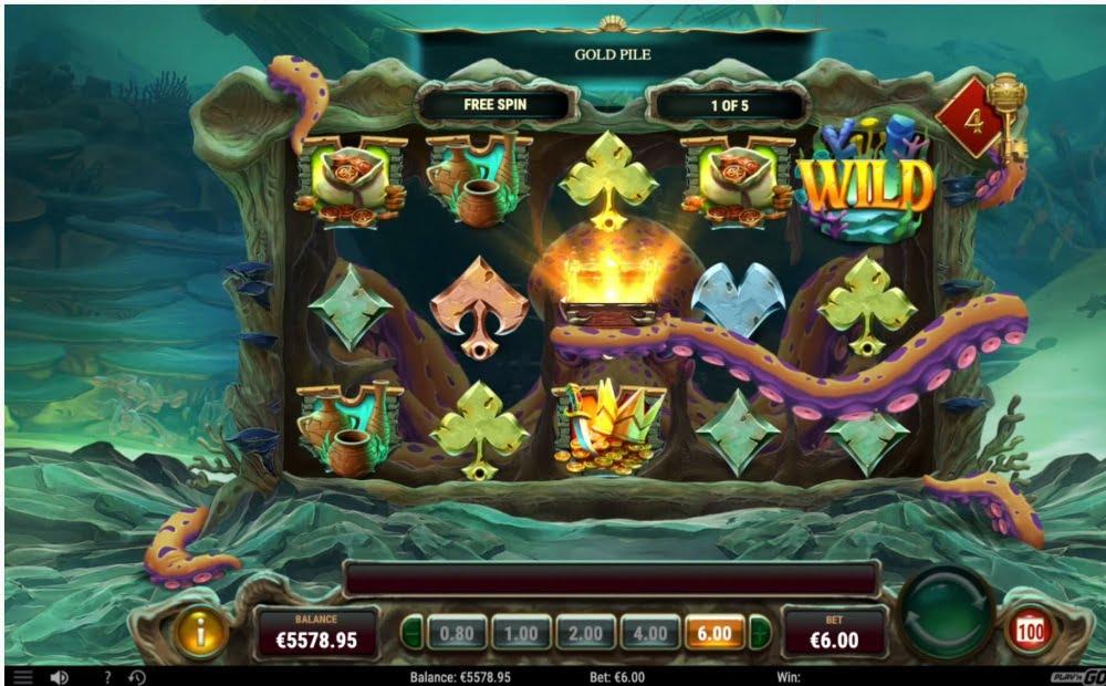 octopus treasure slot by play n go