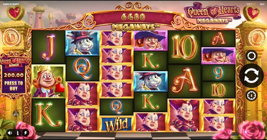queen of hearts megaways slot by isoft bet