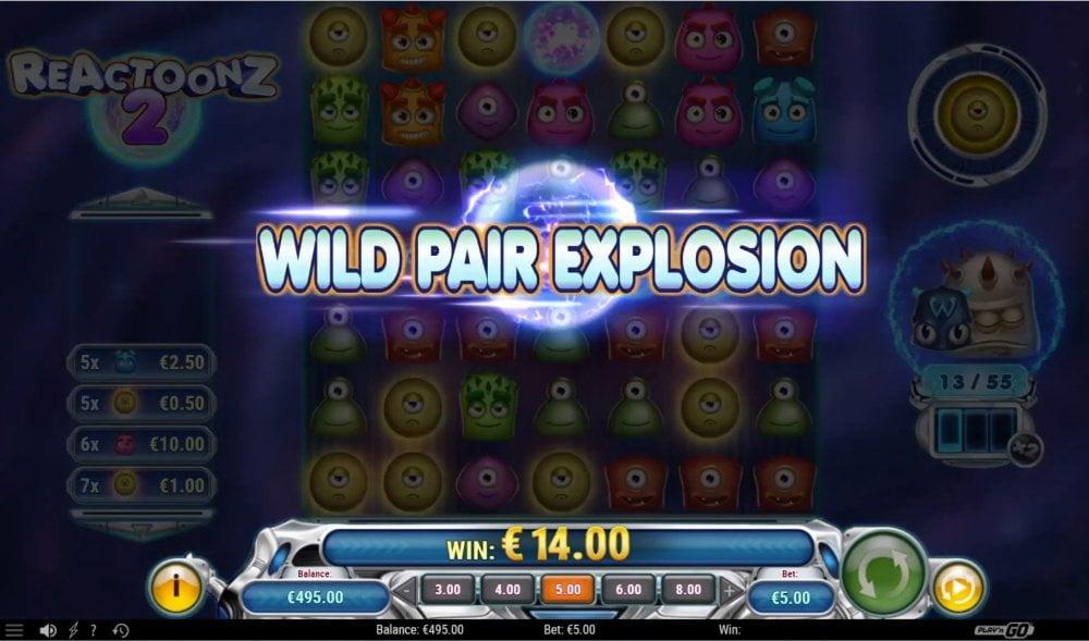 reactoonz 2 slot by play n go