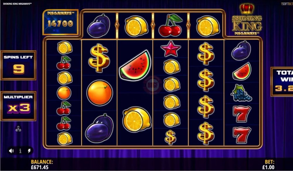 shining king megaways slot by isoftbet