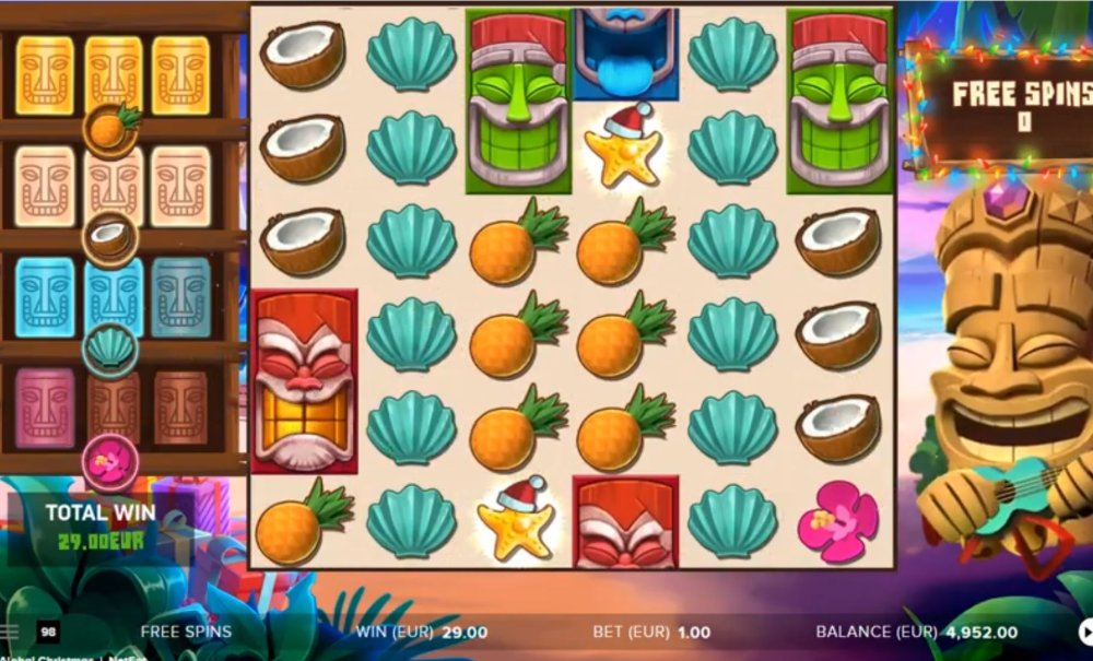 aloha chriostmas edition slot by netent