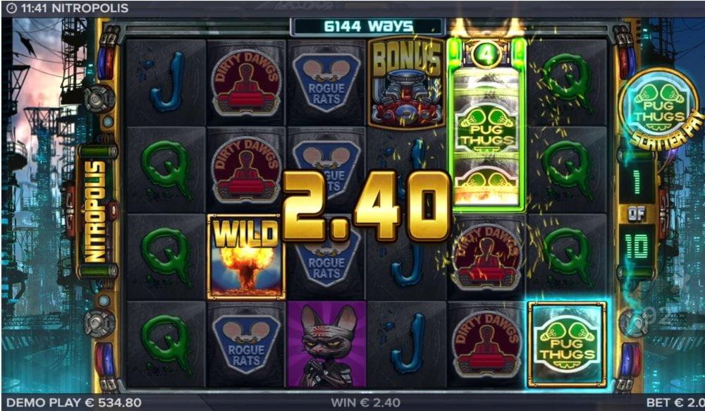 nitropolis slot by elk gaming
