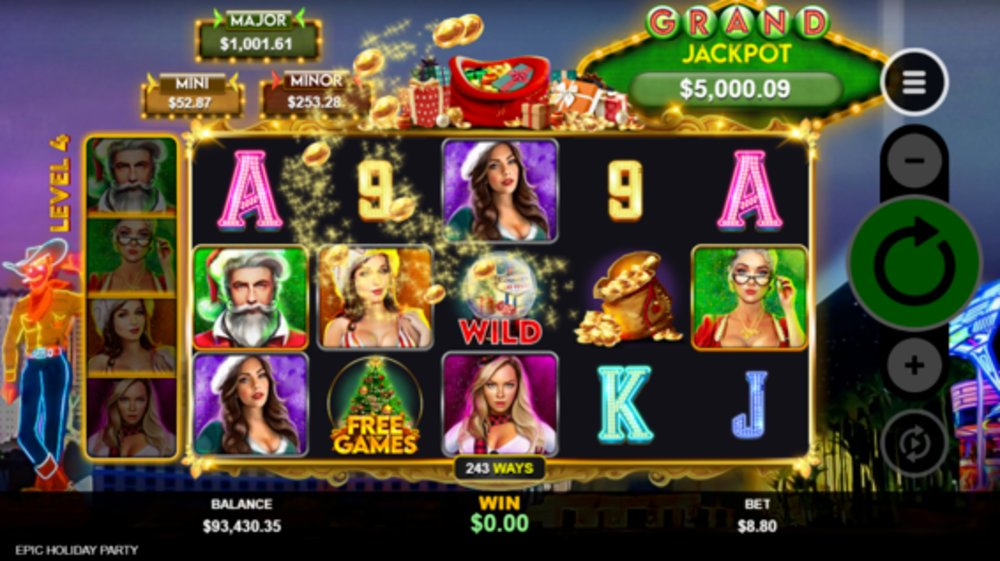 epic holiday party slot by RTG