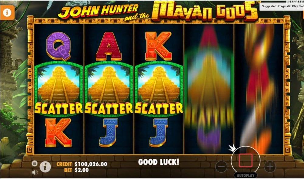 john hunter and the mayan gods slot by pragmatic play