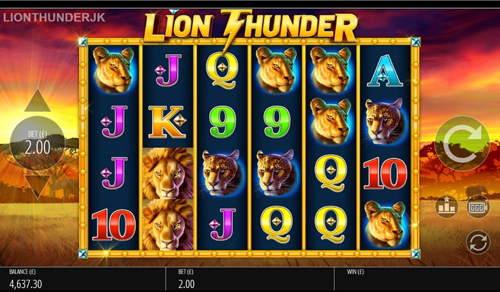 lion thunder spin booster slot by blueprint gaming