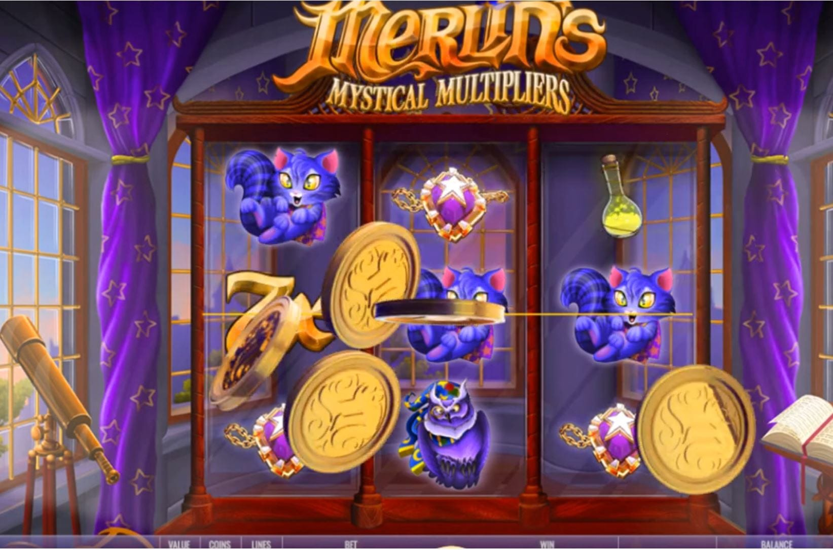 merlins ,mystical multipliers slot by rival