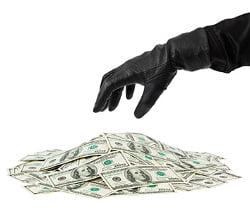 money stolen