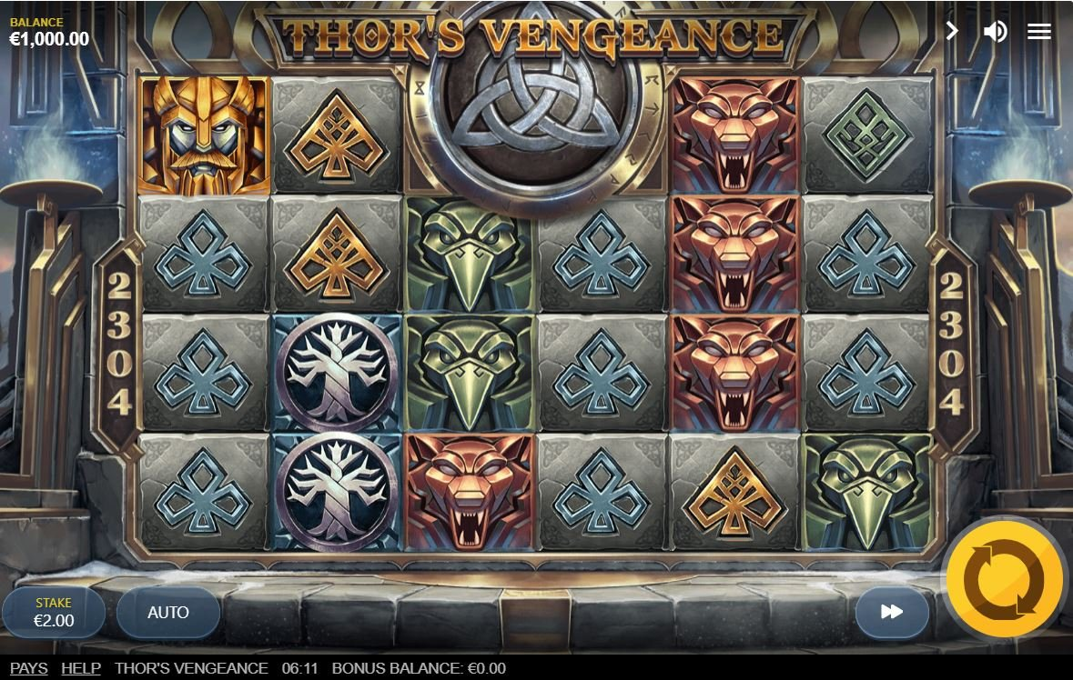 thors vengance slot by red tiger gaming