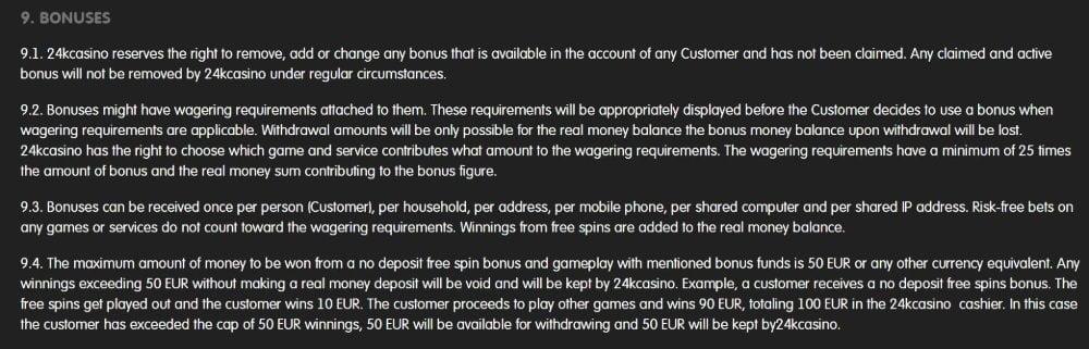 bonus terms