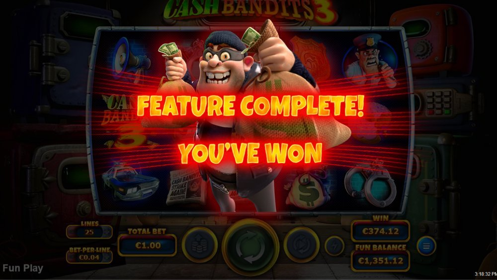 cash bandits 3 feature win