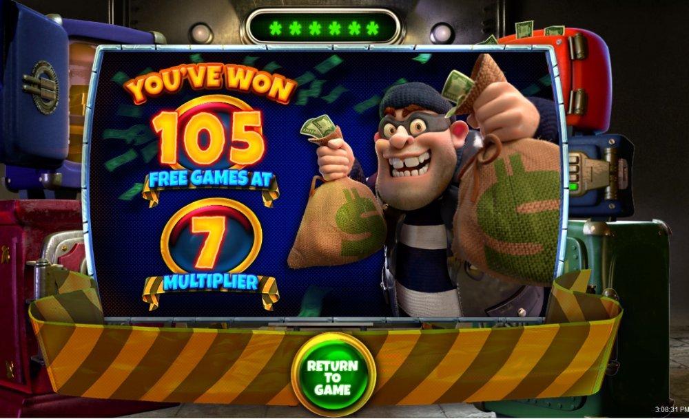 cash bandits 3 bonus