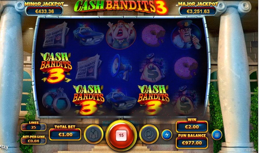 cash bandits free spins