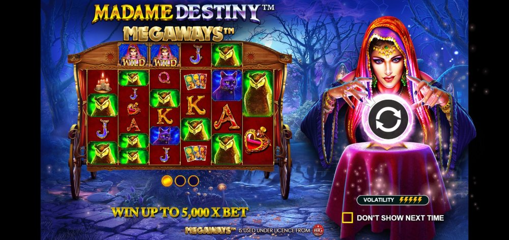 madame destiny megaways slot by pragmatic play
