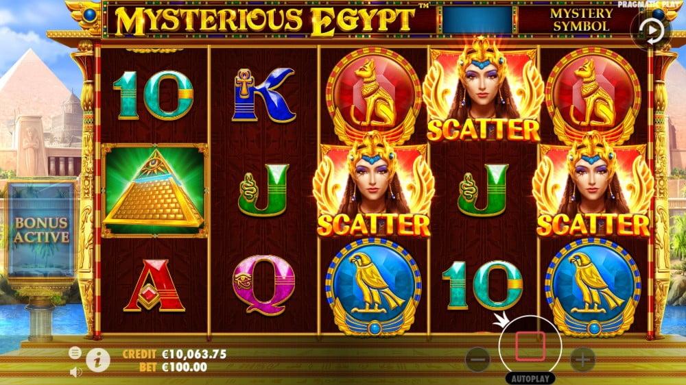 mysterious eygpt slot by pragmatic play