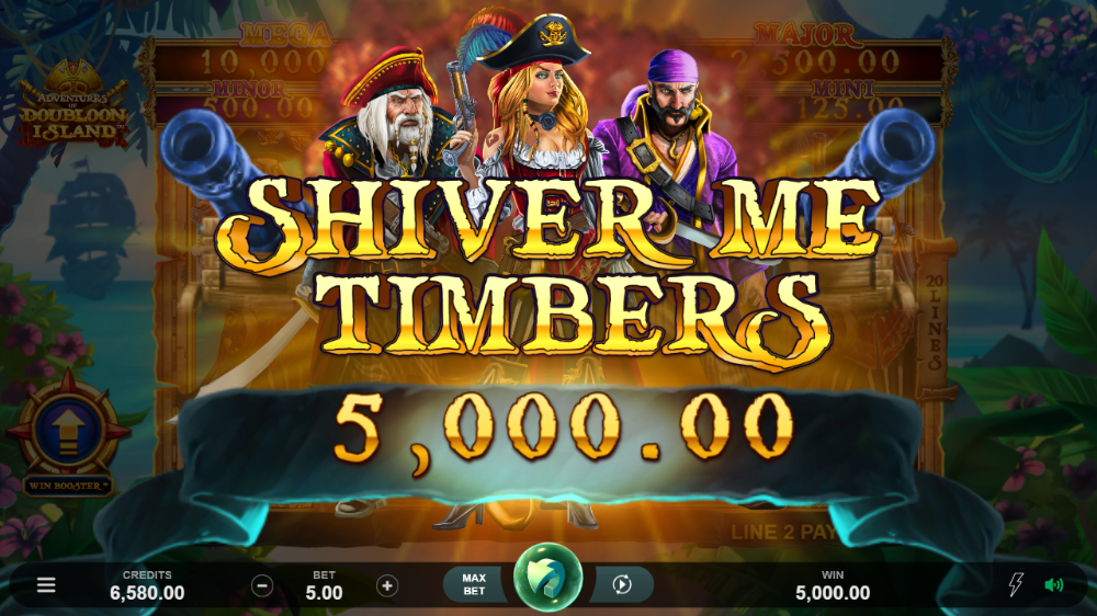 adventures of doubloon island slot by microgaming