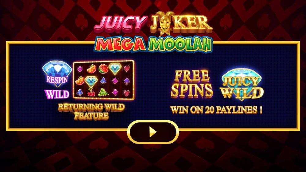 juicy joker megah moolah slot by microgaming