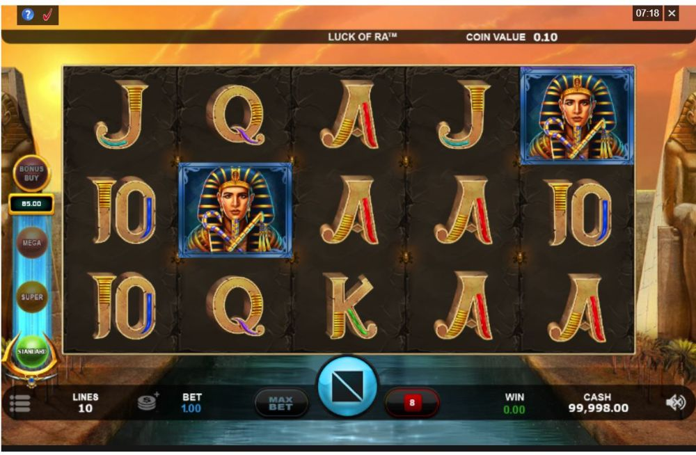 luck of ra slot by microgaming