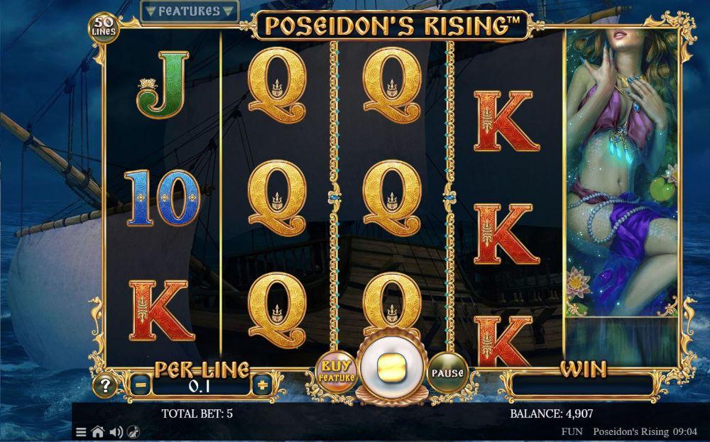poseidons rising slot by spinomenal
