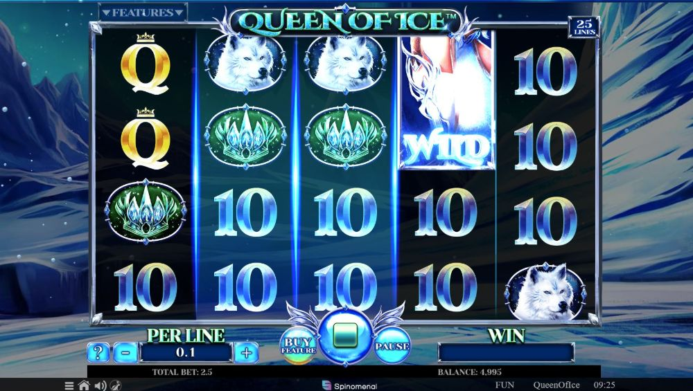 queen of ice slot by spinomenal