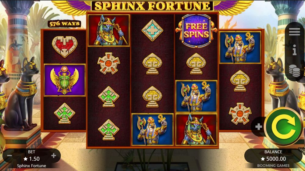 sphinx fortune slot by booming games