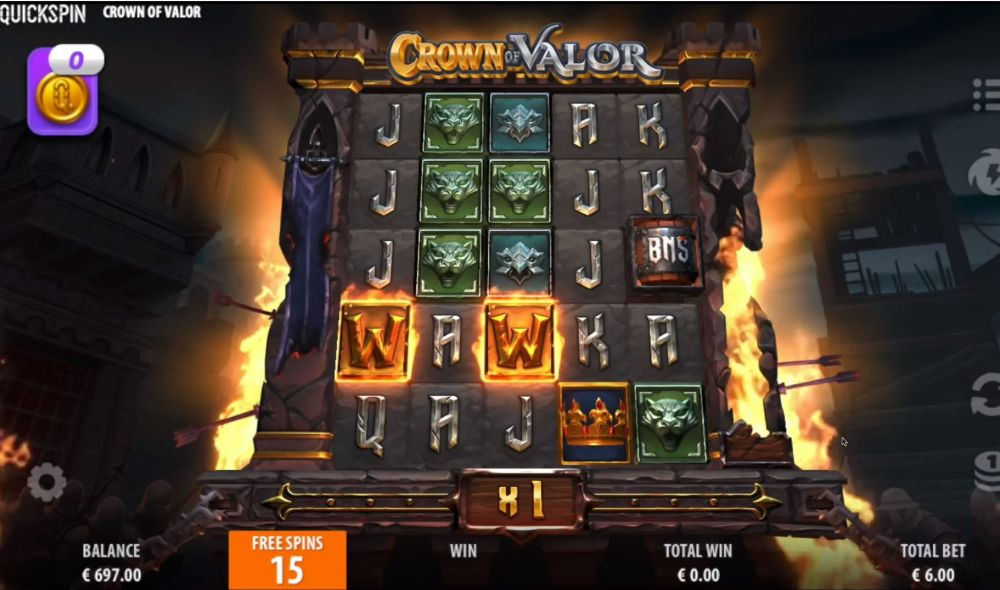 crown of valor slot by quickspin