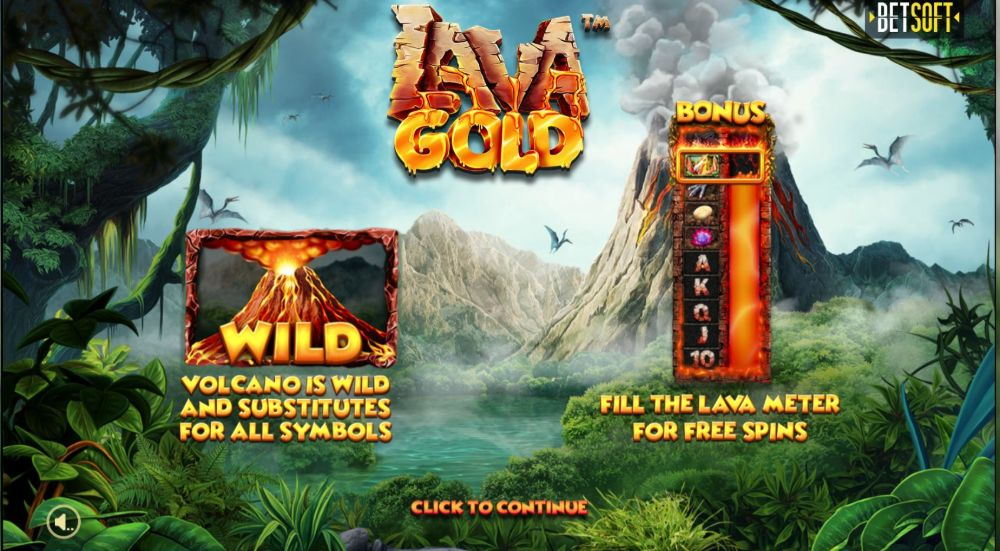 lava gold slot by betsoft