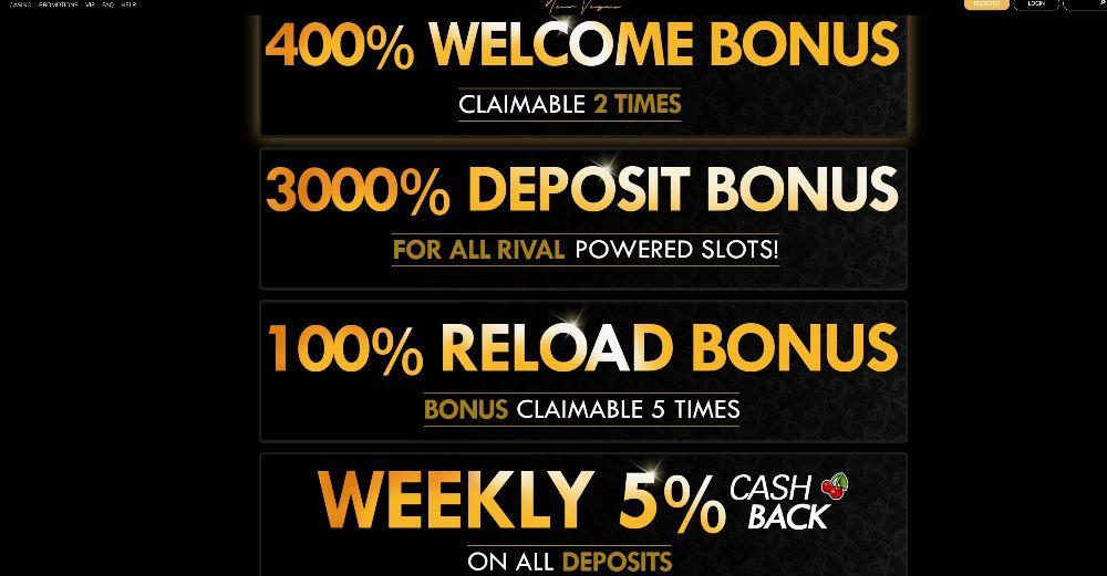 new vegas casino promo bonuses